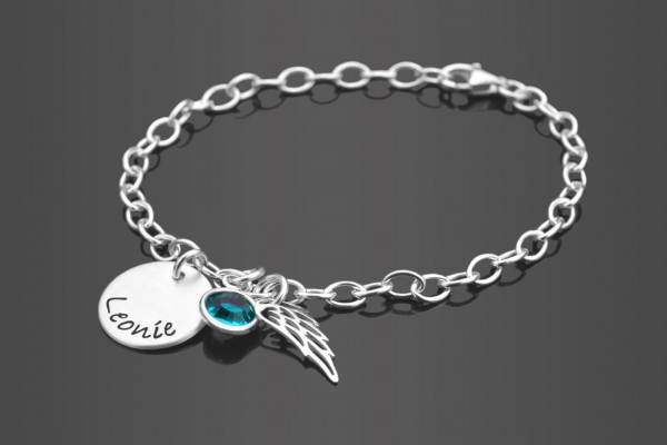 SPREAD YOUR WINGS 925 Silber Armband, Konfirmationsschmuck