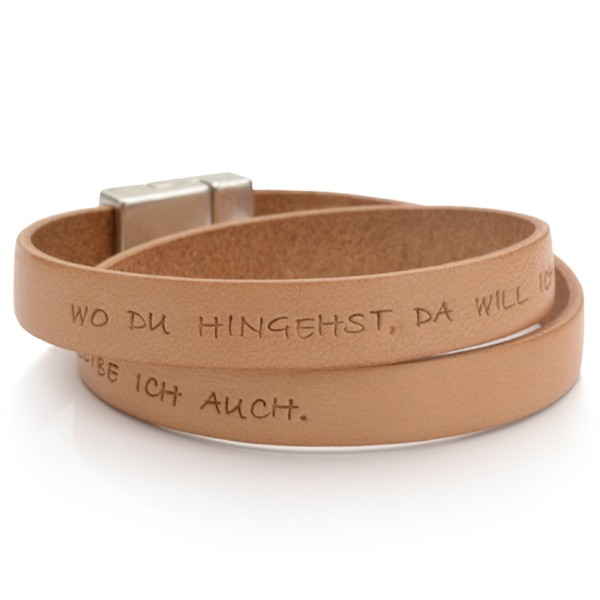 Männer Armband Gravur MY MESSAGE MEN NATURE Leder