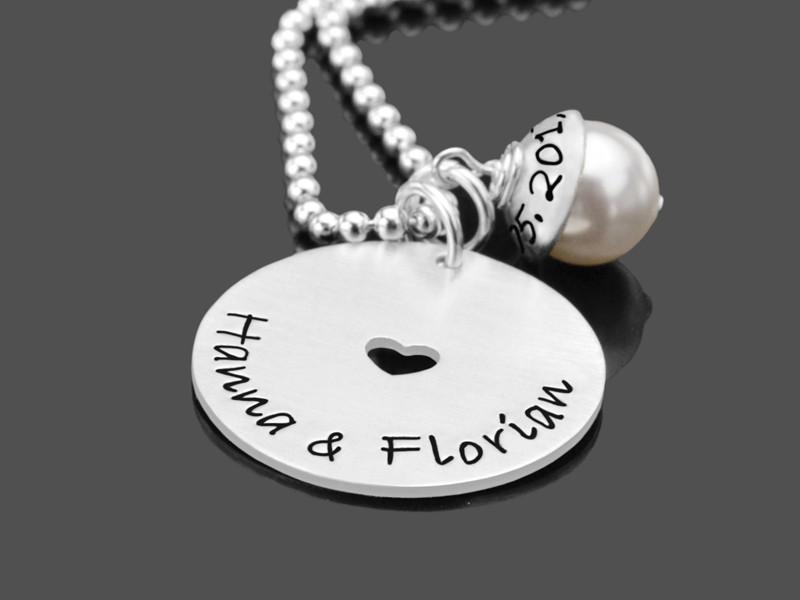 Brautschmuck AROUND MY HEART LYHO 925 Silberkette Hochzeit
