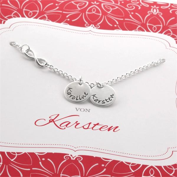 Kette mit Geschenkbox IN LIEBE 925 Silber Gravur Geschenk Frau Freundin
