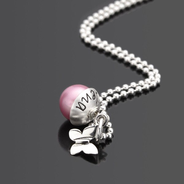 LYHO BUTTERFLY 925 Silberkette mit Schmetterling und Gravur