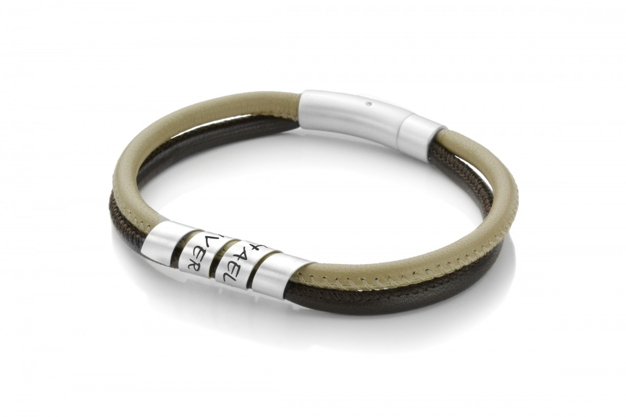 Lederarmband-Maenner-Gravur-925-Silber-Herren-Armband