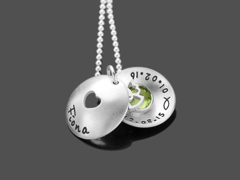 Taufkette Schutzengel HERZCHEN ENGEL Taufschmuck Silber