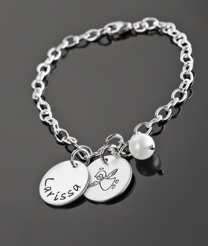 Kinderarmband SCHUTZENGELCHEN Armband Mädchen Silber