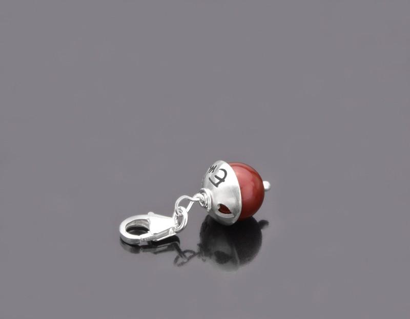 LYHO Herzchen 925 Silber Charm mit Gravur, Herz