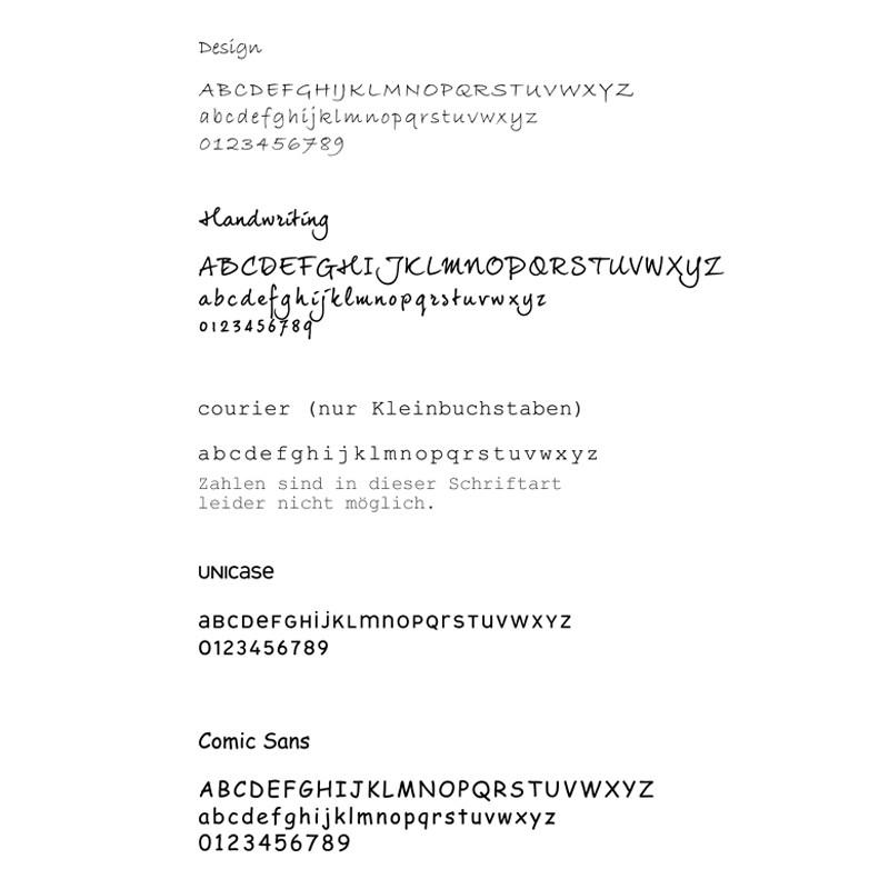 FOUR HEARTS 925 Silber Kette, Textschmuck mit Namen, Gravur