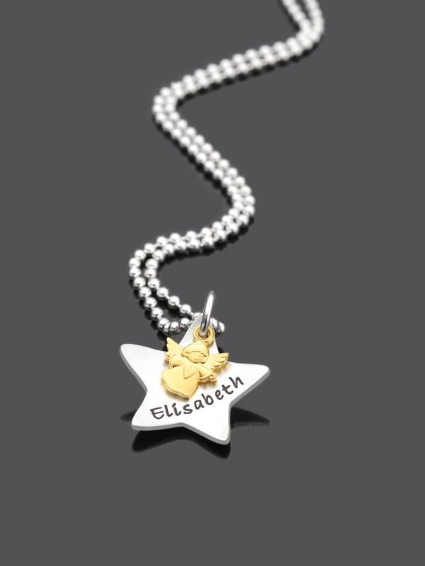Kinderkette SCHNUPPI 925 Silberkette mit Namensgravur