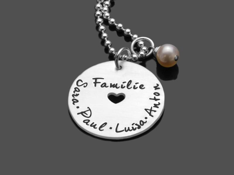 Familienkette HEARTFELT FAMILY 925 Silberkette mit Gravur Namen