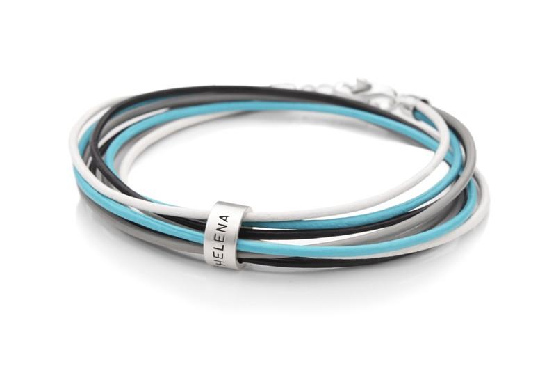 Lederarmband 4-IN-1 ROLL 925 Silber Wickelarmband Leder
