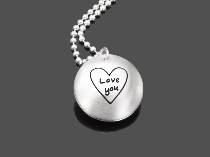 Partnerkette LOVE YOU 925 Silberschmuck persönliche Gravur
