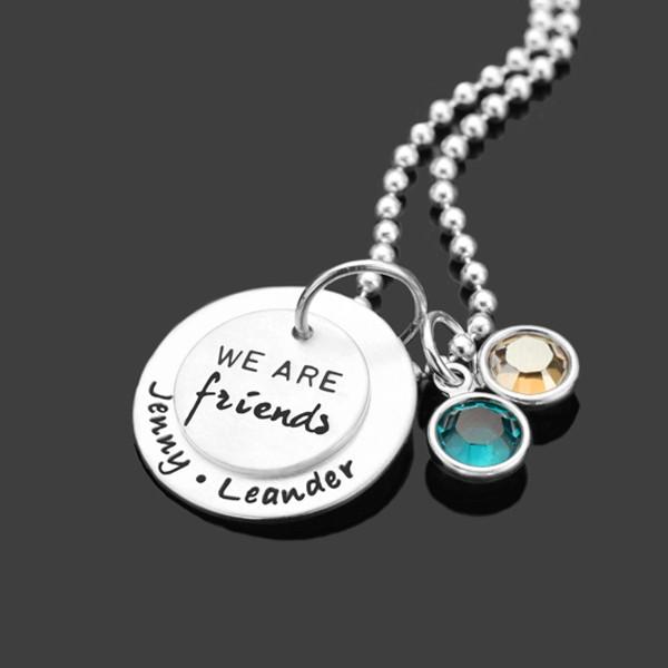 Namenskette aus Silber mit Gravur, Freundschaft
