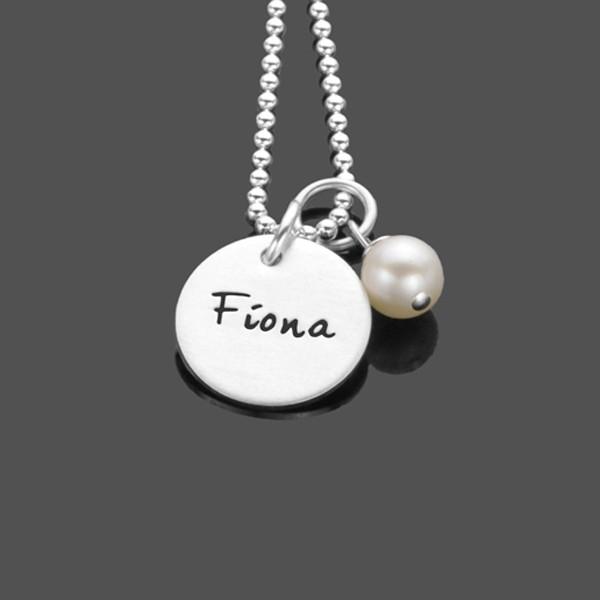 Namenskette Silber SIMPLY 925 Silberkette mit Namensgravur