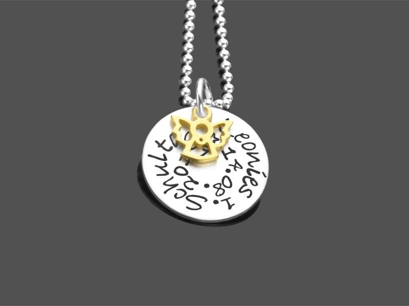1schultag Namenskette 925 Silber Geschenk Zur Einschulung Goldengel