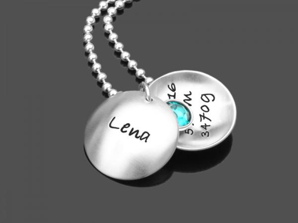 Kinderkette NEWBORN 925 Silber Namenskette Geburt Kinderschmuck