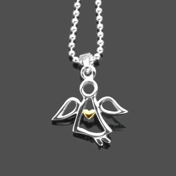 Schutzengel-Kette-925-Silber-Kette-Schmuck-mit-Engel