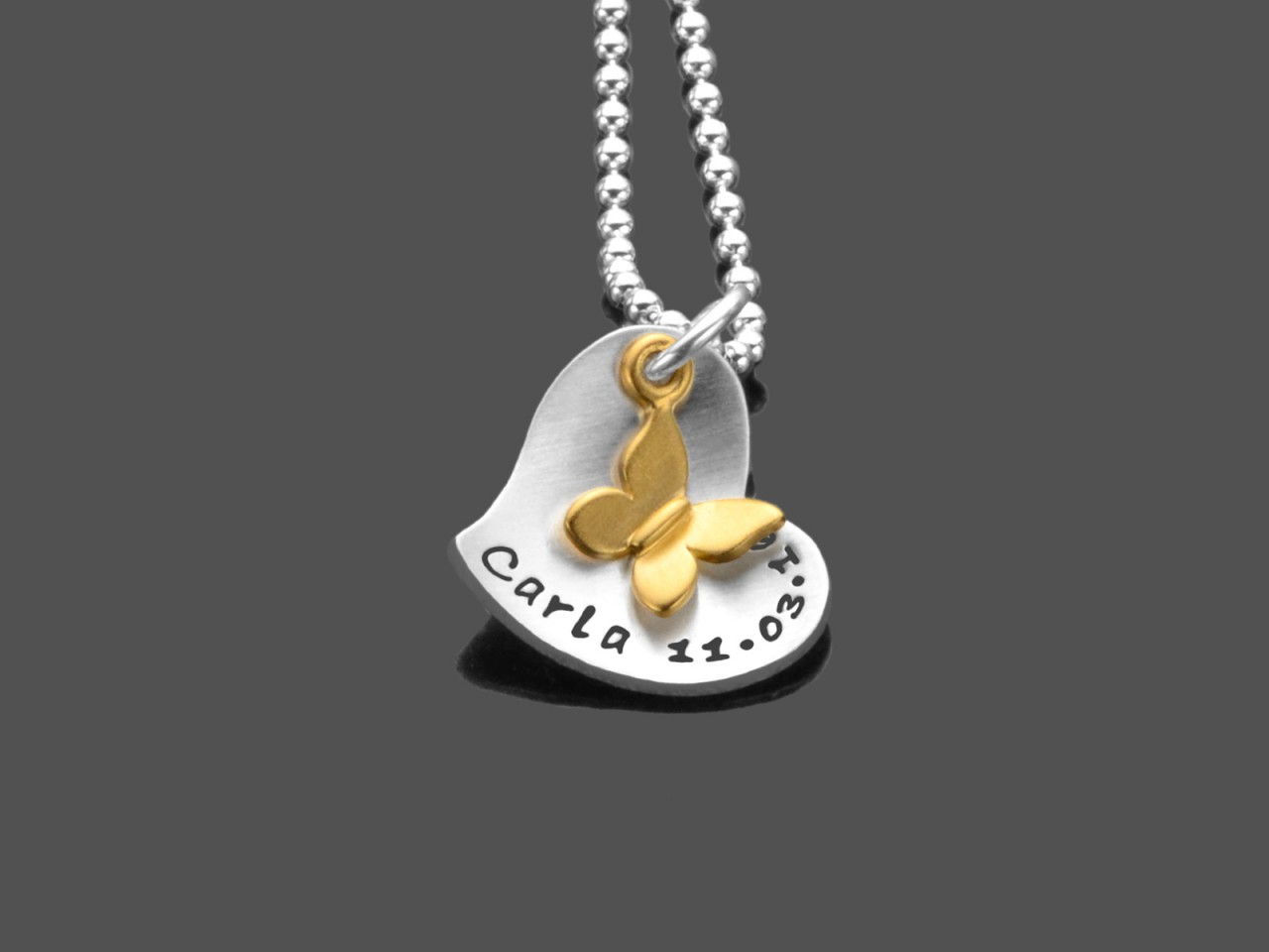 HERZALLERLIEBST Namenskette 925 Silberkette Gravur