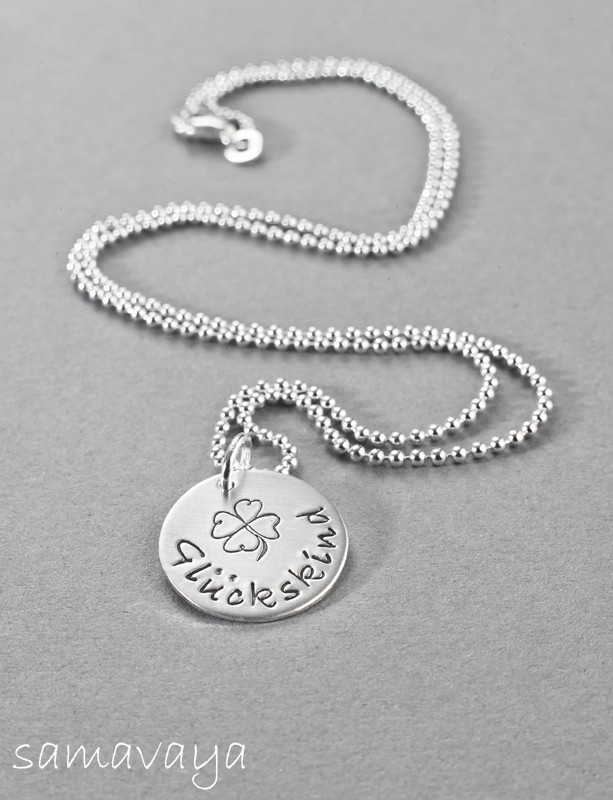 CHOOSE IT! NAMES 925 Silber Kette mit Name, Gravur, Textschmuck