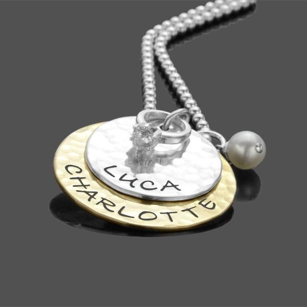 Kette mit Gravur TOGETHER PROMISE 925 Silberkette Partnerschmuck Liebe