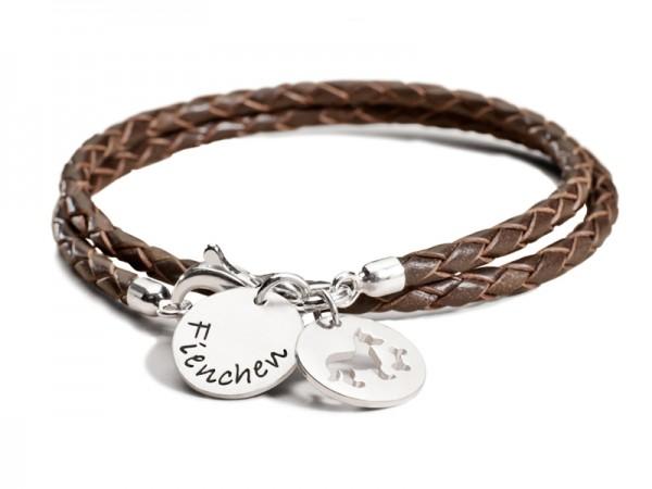 MEIN HUND, MEINE KATZE, MEIN PFERD 925 Silber Armband