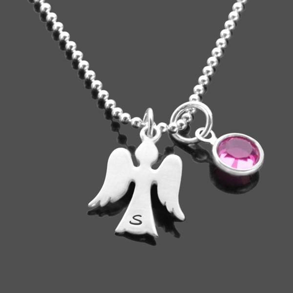 Namenskette-Gravur-925-Silber-Kette-Initialen-Schutzengel-