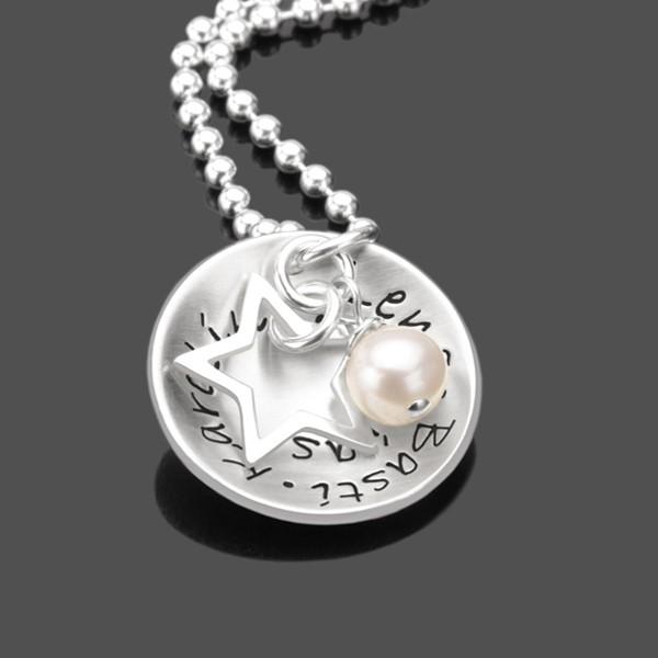 Silberkette MY FAMILY STAR 925 individueller Schmuck mit Gravur