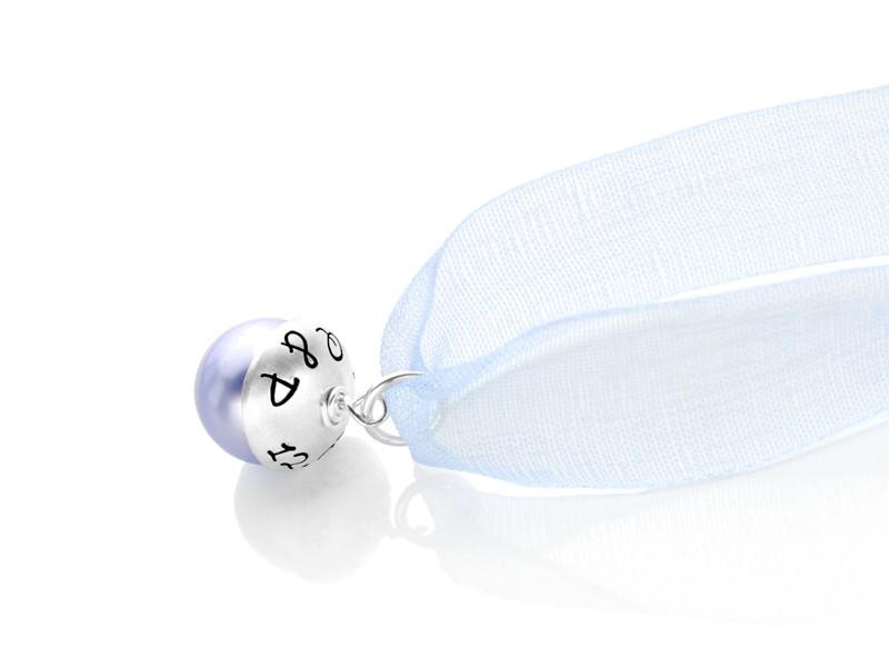 Brautschmuck SOMETHING BLUE 925 Silber Anhänger zur Hochzeit Gravur