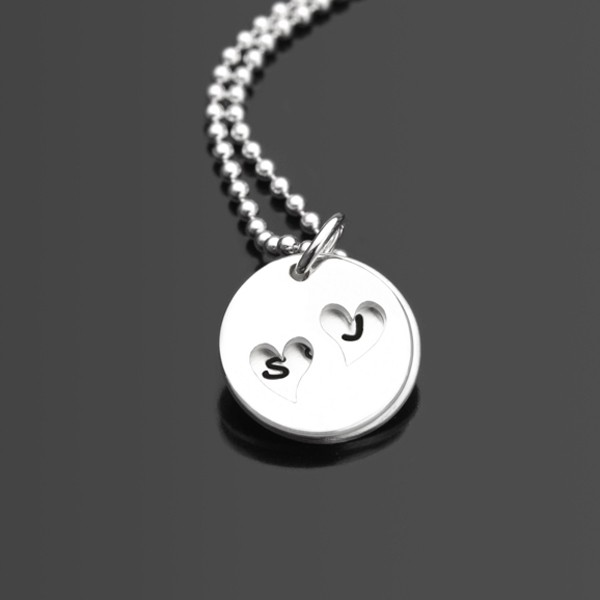 Kette Herz HIDDEN HEARTS Namenskette Silber