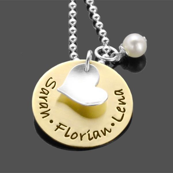 Kette mit Gravur BELOVED 925 Silber Namenskette