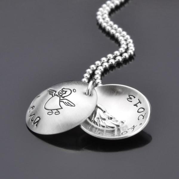 Kinderkette mit Engel aus Silber