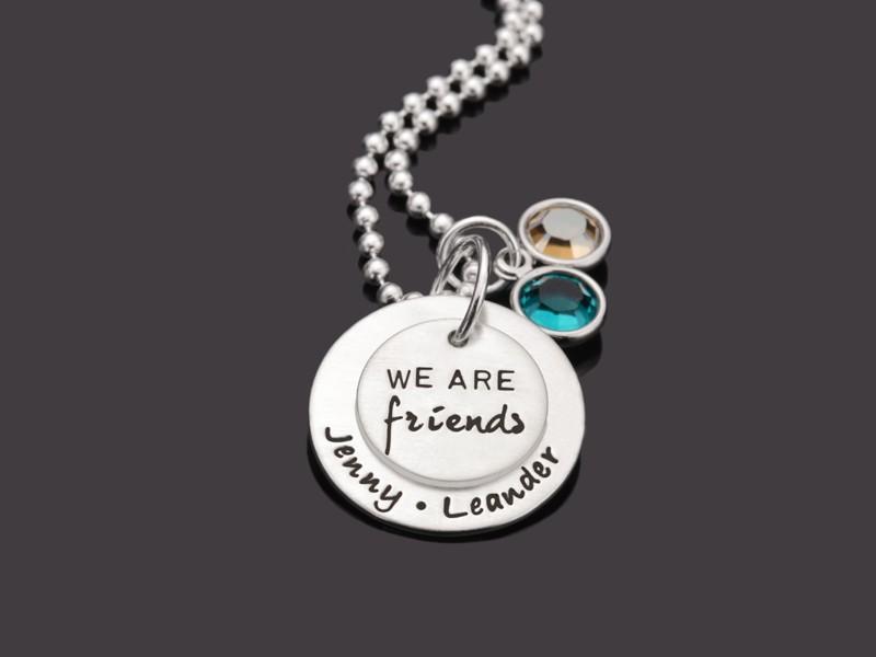 WE ARE FRIENDS 925 Silber Freundschaftskette