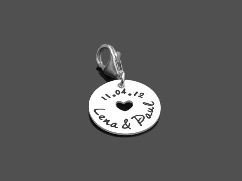 Anhänger IN LOVE 925 Silber Charm Hochzeit Brautschmuck