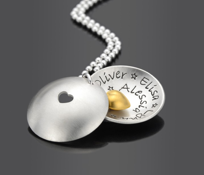 Silberkette mit Namen