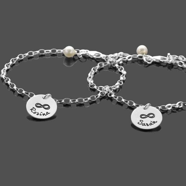 Freundschaftsarmband-Gravur-925-Silber-Namensarmband-Infinity