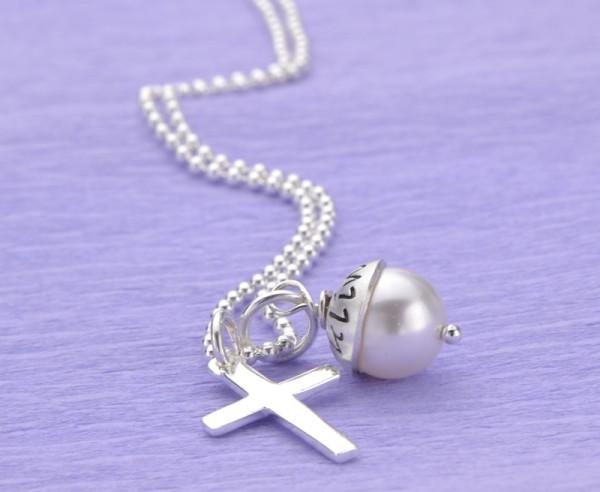 LYHO CROSS 925 Silberkette mit Namensgravur Wunschtext