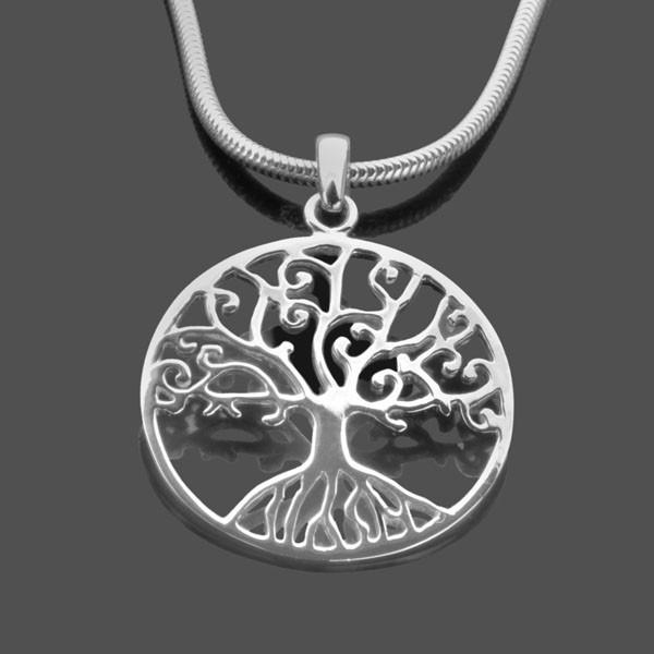 Lebensbaum-Kette-Simple-925-Silber-Kette-Familienbaum
