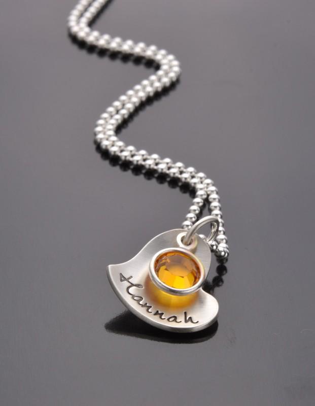 Silberkette HERZERL 925er Silber Namensschmuck Schmuck mit Gravur
