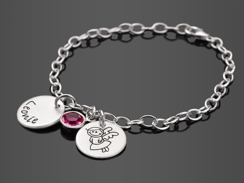 Taufarmband Schutzengelchen 20 Armband Mit Gravur Für Mädchen