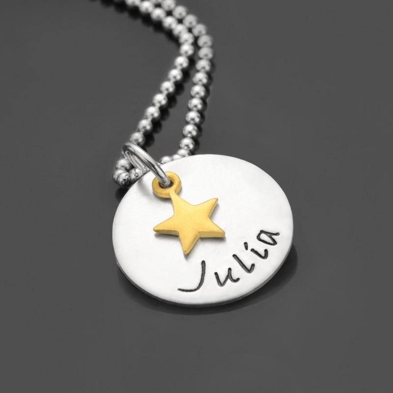 Kinderkette mit Gravur und Stern
