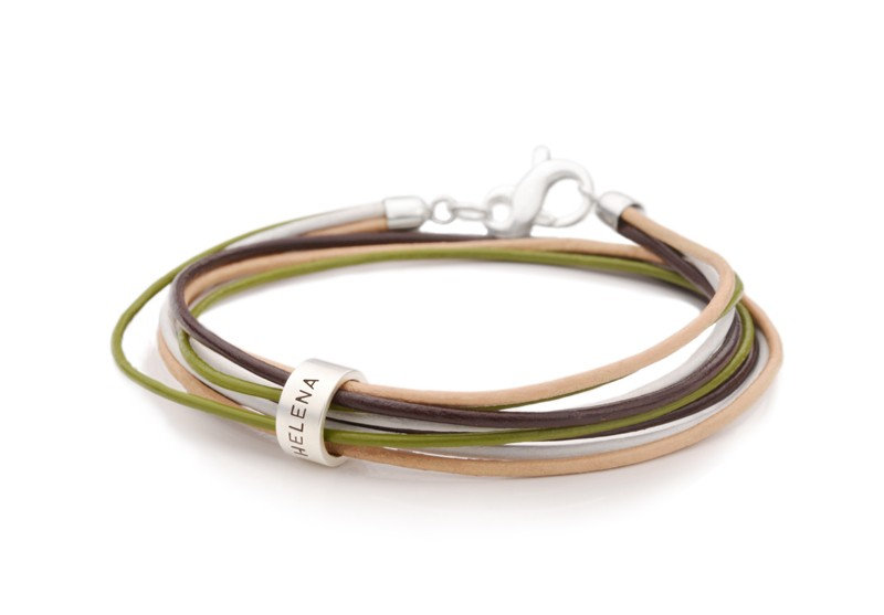 Armband 4-IN-1 ROLL 925 Silber Lederarmband