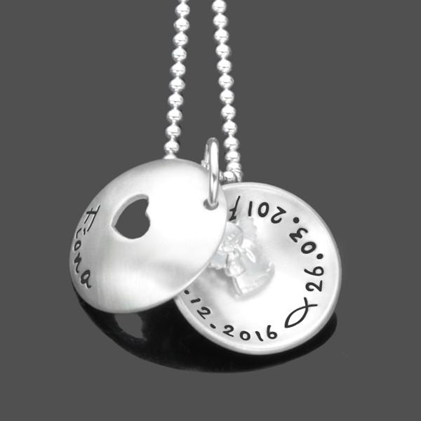 Taufkette-Namenskette-925-Silber-Kinderkette-Gravur