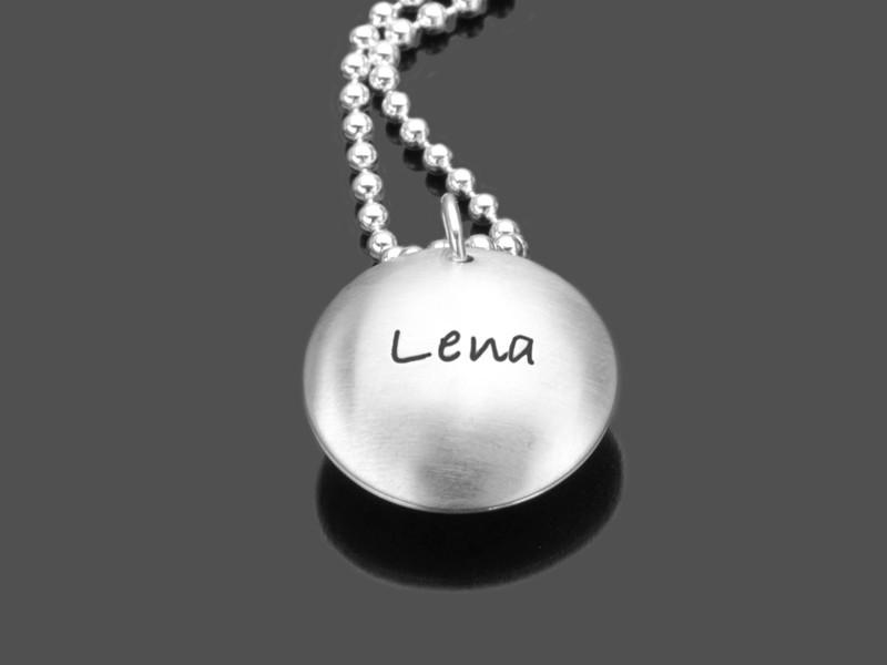 Geschenk zur Geburt NEWBORN 925 Silber Namenskette Silber