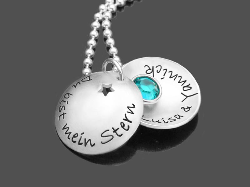 Kette-Valentinstag-Namenskette-Silber