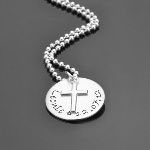 BAPTISM 925 Silber Taufkette mit Namensgravur, Kinderschmuck