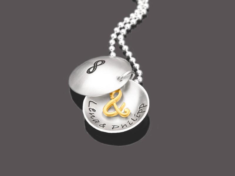 Namenskette Silber TO INFINITY Kette Valentinstag
