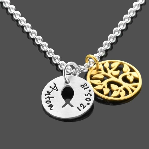 Taufkette-Junge-925-Silberkette-Namensgravur-Lebensbaum