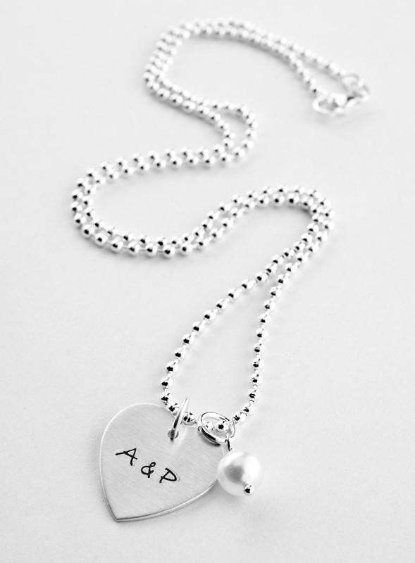 FOREVER 925 Silber Kette mit Gravur Initialen Namen Jahrestag Datum