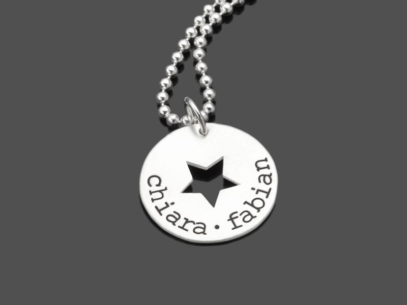 MY STARS SMALL 925 Silber Kette, Namensschmuck, Wunschtext