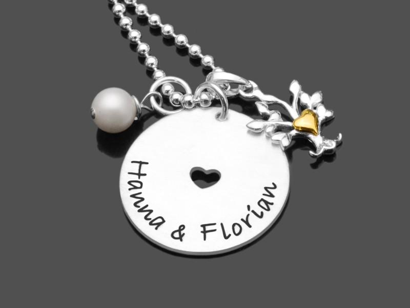 Brautschmuck MY ONE & ONLY Kette 925 Silber Hochzeit Namenskette