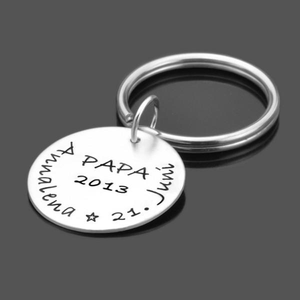 Schlüsselanhänger aus Silber mit Namen, personalisiert