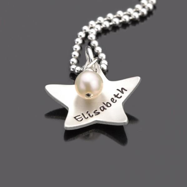 Kinderkette aus Silber mit Stern